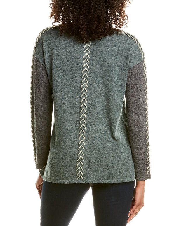 Hannah Rose Whip Stitch Wool & Cashmere-Blend Sweater