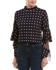 Bcbgeneration Dotted Crop Top