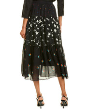 Farm Rio Mixed Stardust Maxi Skirt