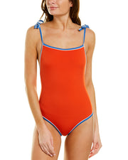 Solid & Striped The Poppy Tie One-Piece