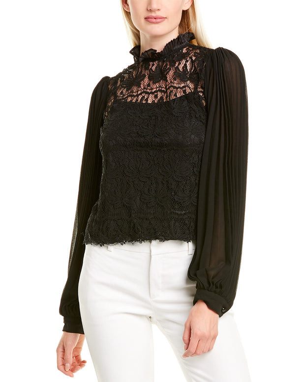 Gracia Pleated Top