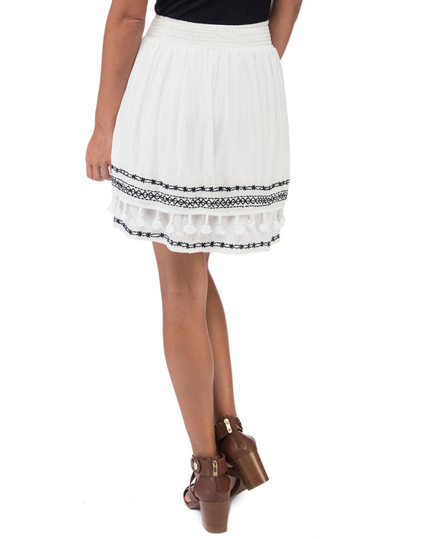 Bobeau Monroe Embroidered Skirt