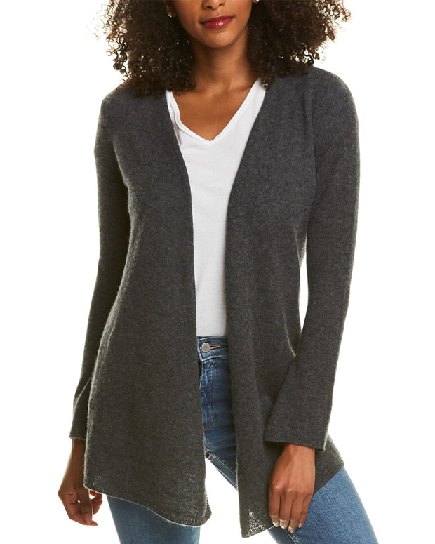 Ply Cashmere Open Front Cashmere Cardigan