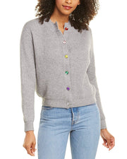 Lea & Viola Gem-Button Cardigan