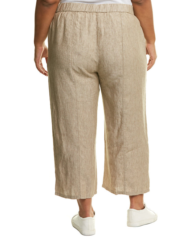 Eileen Fisher Plus Cropped Linen Pant