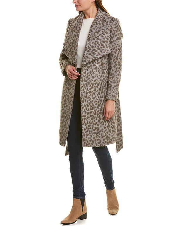 Cole Haan Signature Slick Wool-Blend Wrap Coat