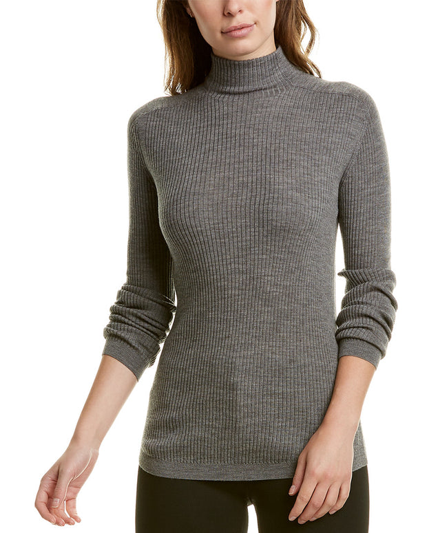 Lafayette 148 New York Ribbed Wool-Blend Sweater