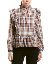 Lucca Couture Indiana Peplum Blouse