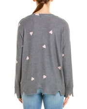 Lna Brushed Hearts T-Shirt
