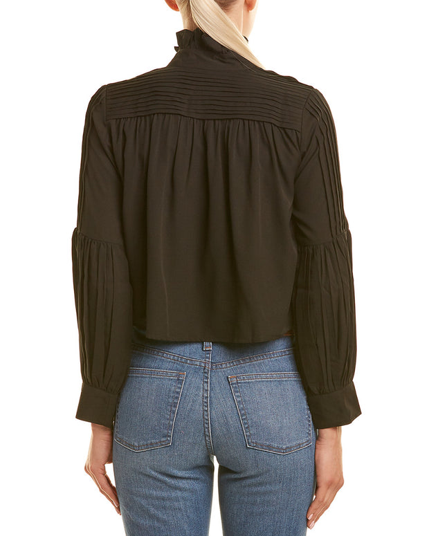 Kas New York Natalie Pleated Blouse