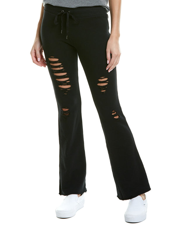 David Lerner Distressed Skinny Flare Pant