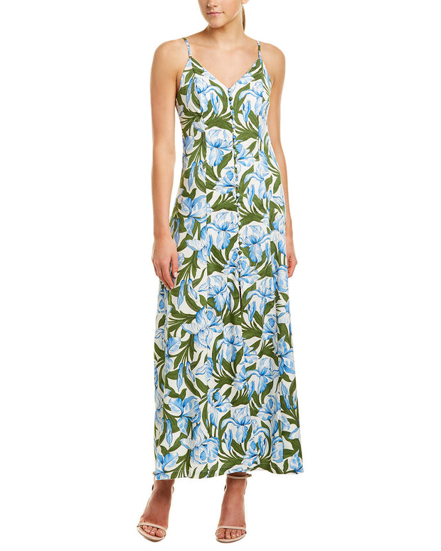 On Twelfth Vintage Tropical Maxi Dress
