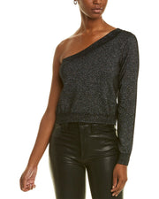 Qi Cashmere One-Shoulder Cashmere Sweater