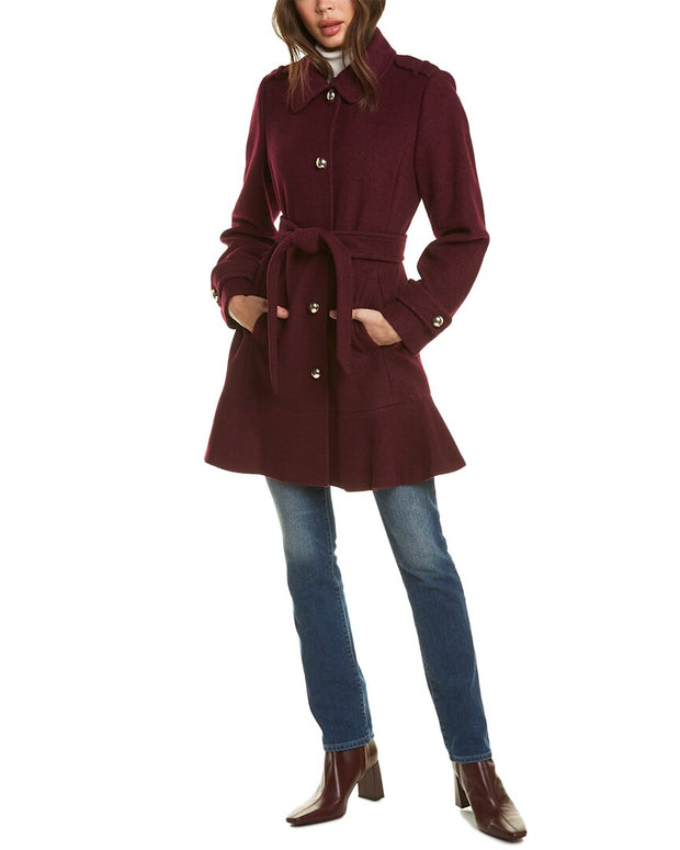 Kate Spade New York Long Wool-Blend Coat
