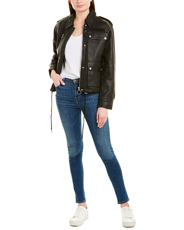 Bagatelle Army Leather Jacket