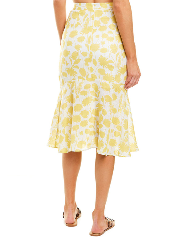 6 Shore Road Tidepool Linen Midi Skirt