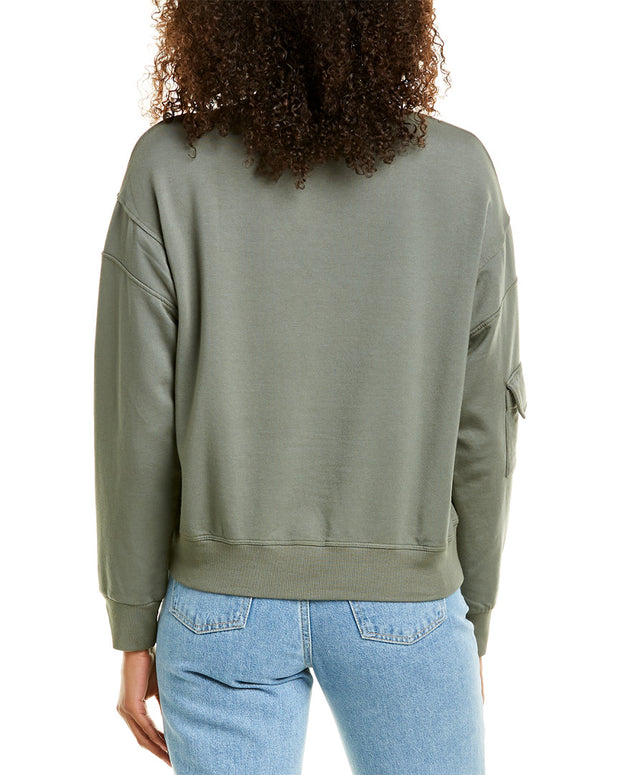 Monrow Patch Pocket Sweatshirt