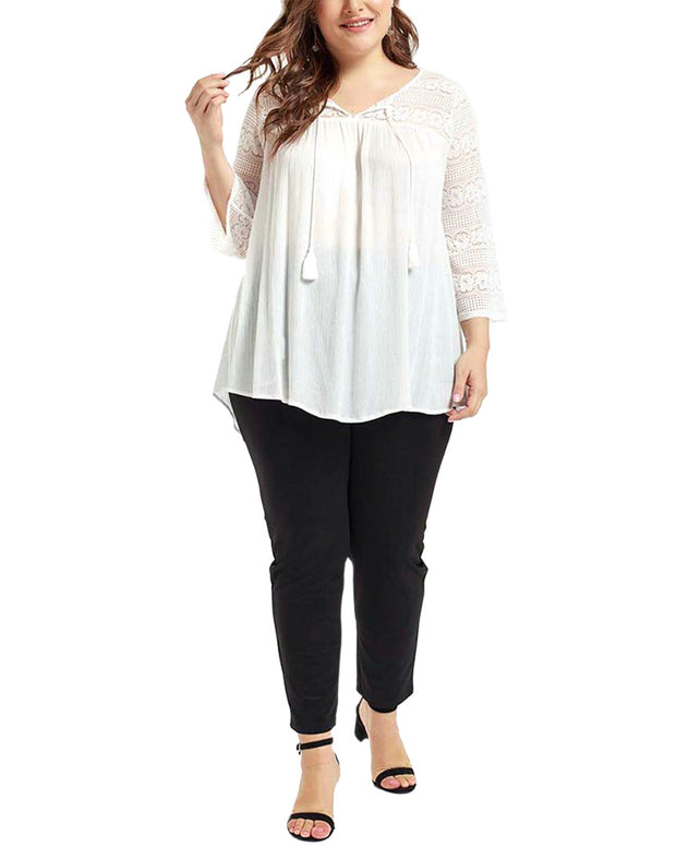 Prered Plus Long Sleeve Blouse