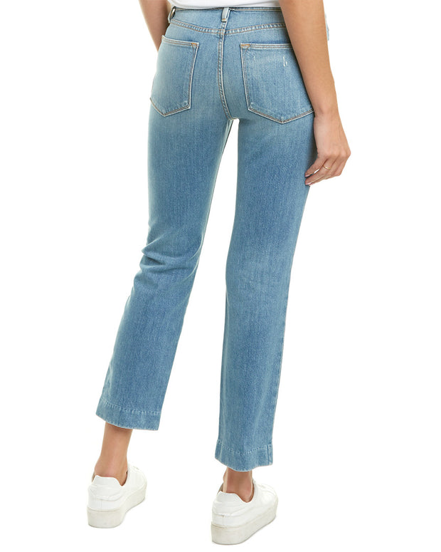 Frame Denim Le High Blue Straight Leg