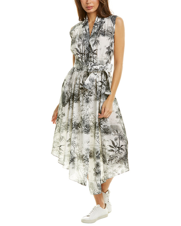 Adam Lippes Asymmetrical Midi Dress