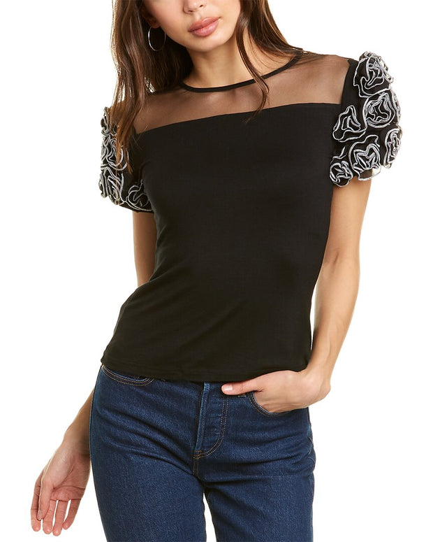 Gracia Mesh Yoke Top