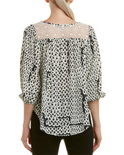 Collective Concepts Embroidered Yoke Top