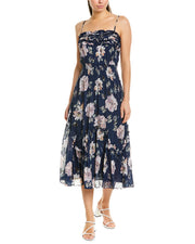 Rebecca Taylor Magnolia Silk-Blend Maxi Dress
