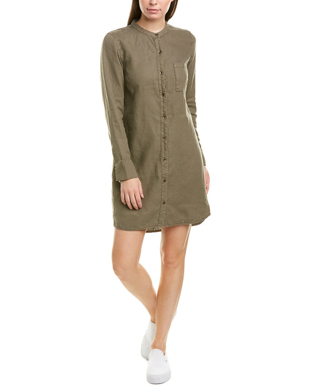 Michael Stars Step Hem Linen Shirtdress