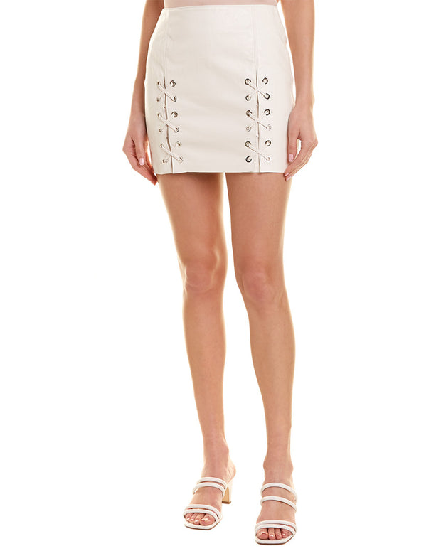 Divine Heritage Lace-Up Mini Skirt