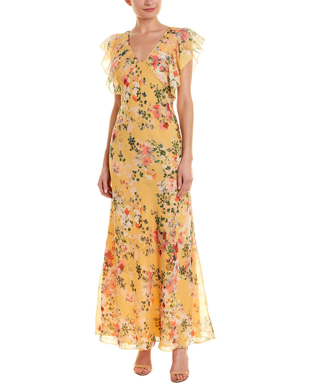 Divine Heritage Pleated Maxi Dress
