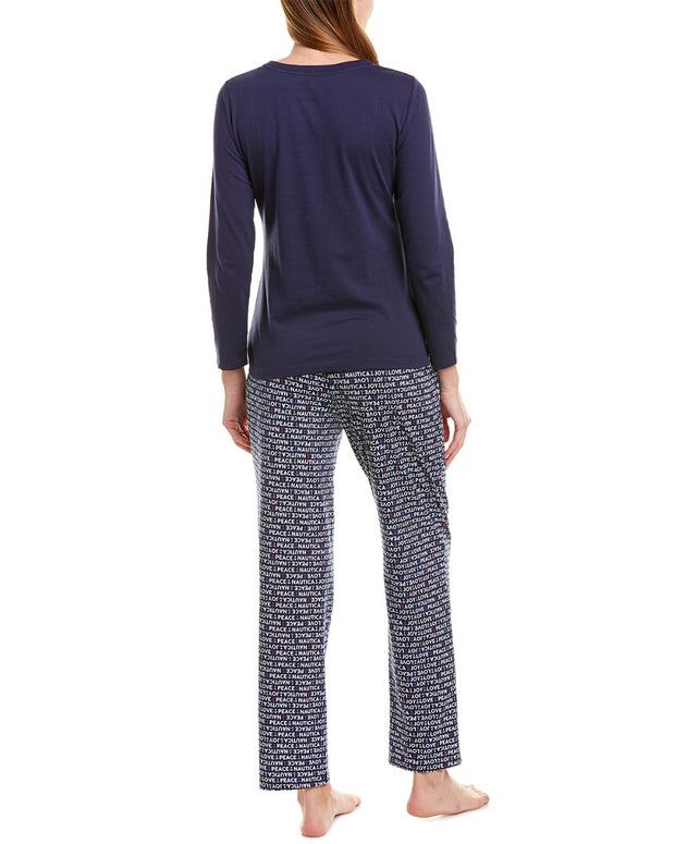 Nautica 2Pc Pajama Pant Set