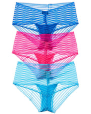 Cosabella 3Pk Sweet Treats Stripe Hotpant