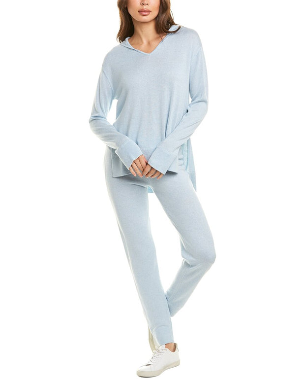 Hannah Rose 2Pc Silk & Cashmere-Blend Lounge Set
