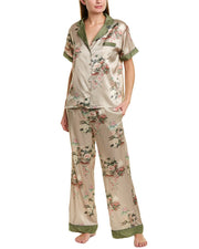 Johnny Was Nailah Silk-Blend Pajama Set