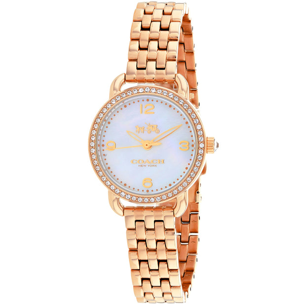 Coach Women's Delancey White MOP Dial Watch - 14502479