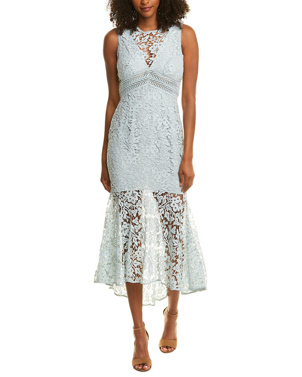 Ml Monique Lhuillier Lace Midi Dress