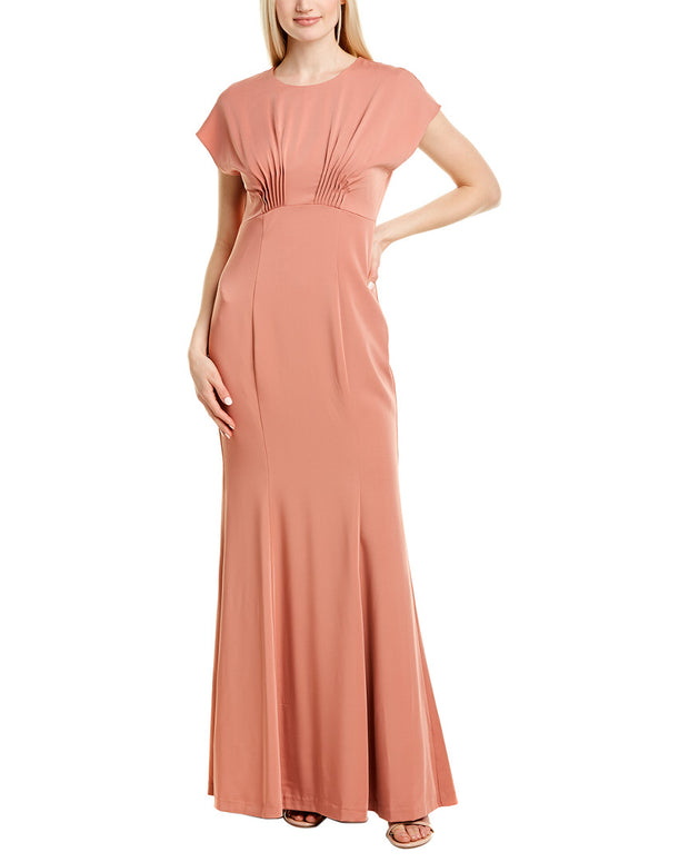 Kay Unger Pintucked Gown