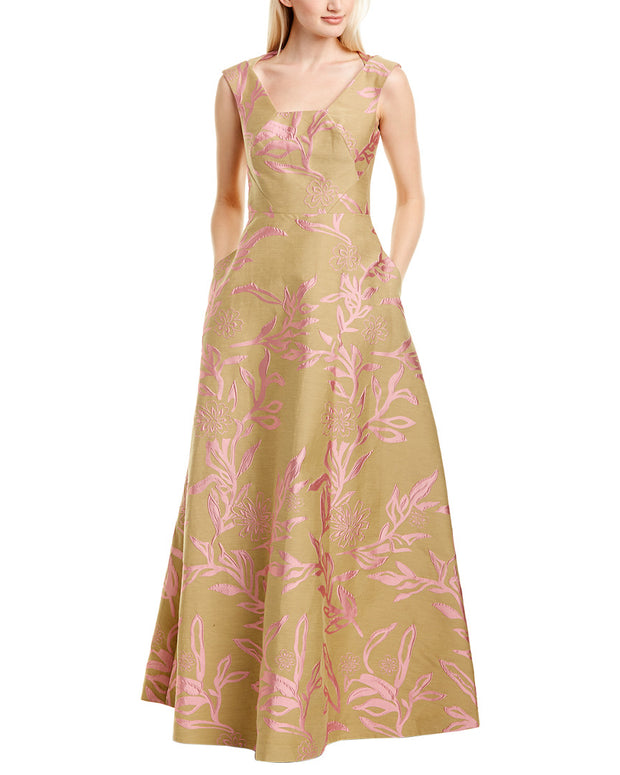 Kay Unger Jacquard Gown