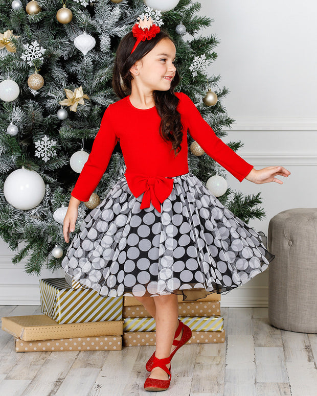 Mia Belle Girls Jacquard Tutu Dress