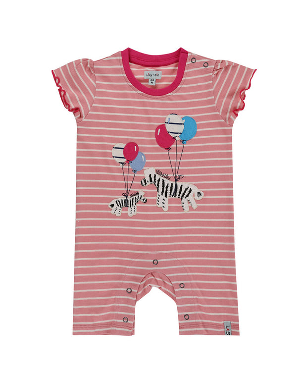 Lilly And Sid Zebra Romper