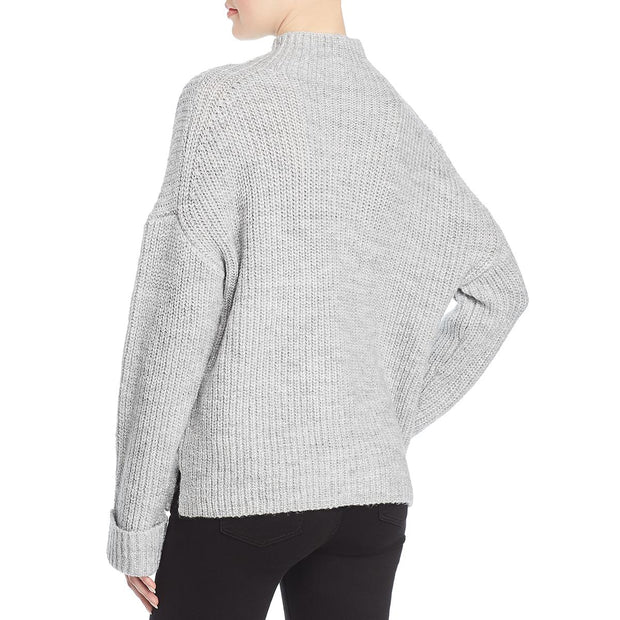 Marled Reunited Clothing Womens Chunky Knit Mock Turtleneck Sweater