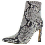 Sashala Womens Snake Embossed Ankle Boots