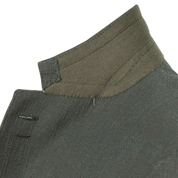CARUSO Green Textured Cotton Blend 3 Roll 2 Button Sport Coat