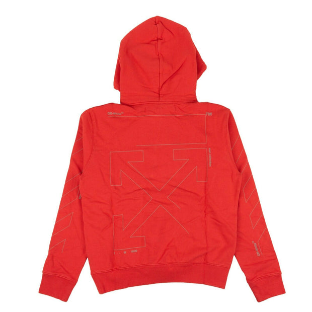 OFF WHITE c/o VIRGIL ABLOH Red 'Diag' Unfinished Hoodie