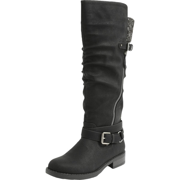 XOXO Womens Miles-C Slouchy Tall Riding Boots