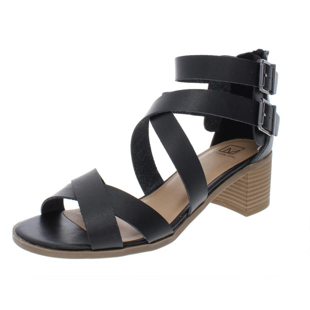 Danee Womens Solid Strappy Dress Sandals