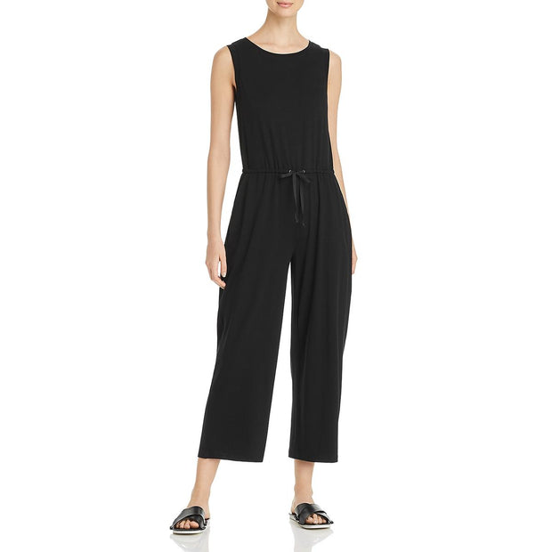 Eileen Fisher Womens Sleeveless Crew Neck Jumpsuit