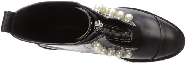 3.1 Phillip Lim Women's Hayett-Lug Sole Zipper Boot with Pearls Ankle