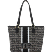 Gothic Stripe Womens Faux Leather Striped Tote Handbag