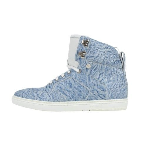 JIMMY CHOO Sky Blue Hi-Top Sneakers